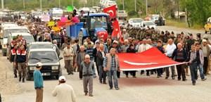Muğla - Antalya karayolunda 2B eylemi!