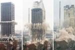 116 metre yüksekliğindeki kule böyle yıkıldı!