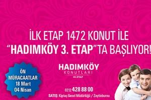 Kiptaş Hadımköy 3. Etap projesi satışlarına bugün başlıyor!