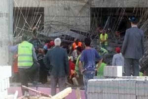 Balıkesir'de hastane inşaatında göçük yaşandı