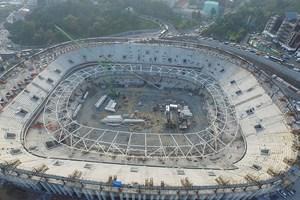 Beşiktaş'ın stadında çatı çelik iskeleti yükseliyor!