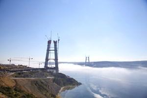 3. Boğaz Köprüsü projesinde ana kablo çekimi yapıldı!