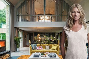 Dünyaca ünlü model Kate Moss'un evi!