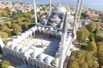 Tarihi Sultanahmet Camii'nde minare restorasyonu tamamlanadı
