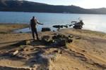 Erdek'te deniz çekildi antik iskele ortaya çıktı