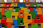 Sıradanlığın dışına çıkan rengarenk evler...