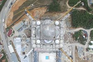 Çamlıca Camii'nde sona yaklaşılıyor! Kaba inşaat bitti