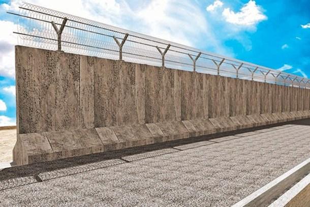 Suriye'ye TOKİ'den güvenlik duvarı