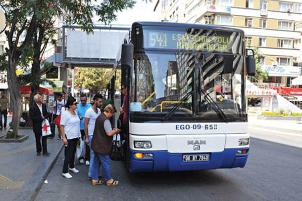 Başkent'te toplu taşıma ücretlerine zam