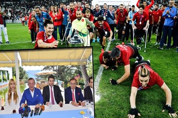 Ağaoğlu'ndan Ampute Milli Futbol Takımı'na büyük Jest