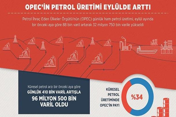 OPEC'in petrol üretiminde artış