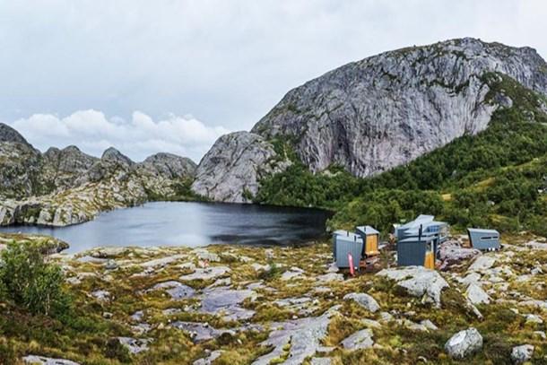 Norveç'in dağ kulübeleri!