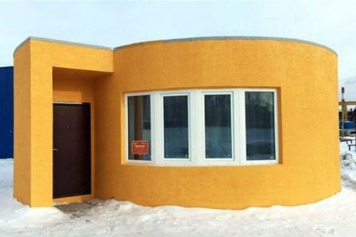 işte 24 saatte inşa edilen 3 boyutlu ev!