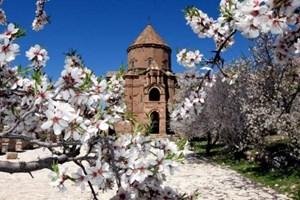 Tarihi Akdamar Adası çiçeklerle hayat buldu