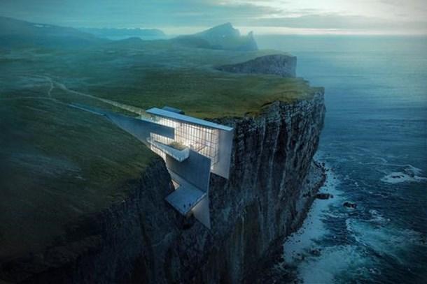 Uçurumun kıyısında lüks bir rezidans!