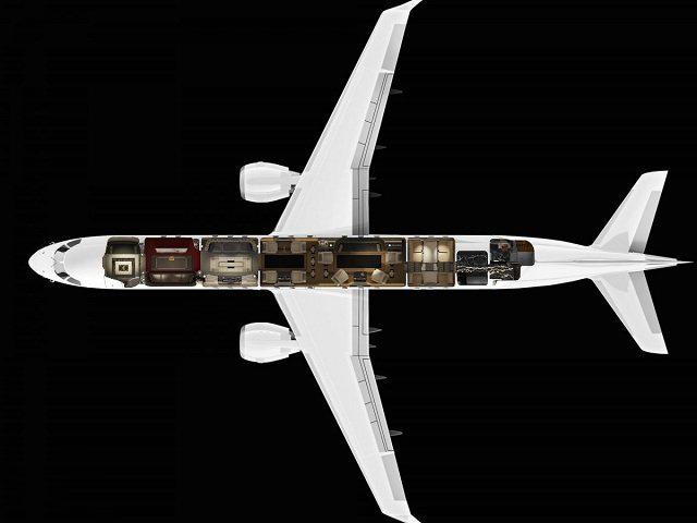 <br /> 83 milyon dolar değerindeki jetin oda kapasitesi 13-19 arasında değişiyor.<br />