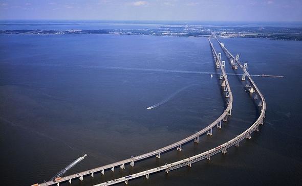 Şimdiye kadar yapılmış en pahalı 10 köprü sıralandı.&nbsp;<br /> <br /> CHESAPEAKE KÖRFEZİ...