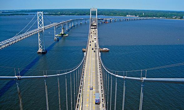 Köprü, 1952 yılında açıldığında en uzun çelik yapı olma özelliğine sahipti. Maryland eyaletinde...