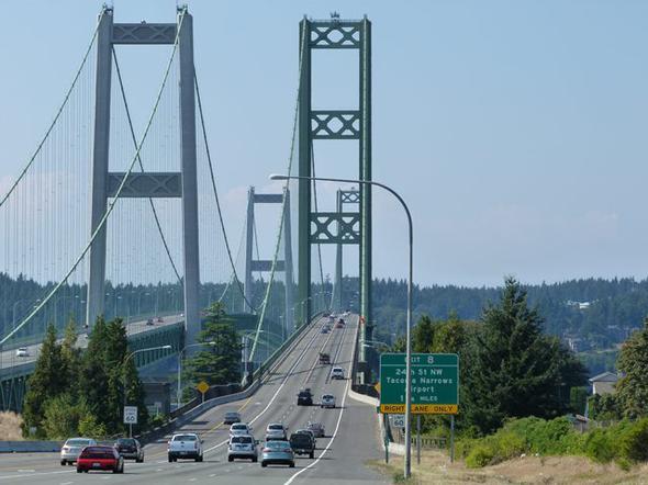 TACOMA NARROWS KÖPRÜSÜ- WASHİNGTON<br /> <br /> Tacoma Narrows Köprüsü, Tacoma bölgesindeki...