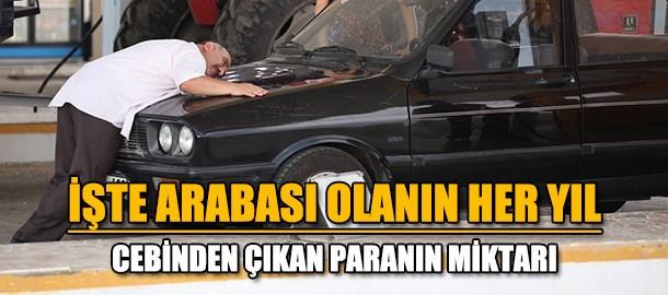 Türkiye'de araba sahibi olanın yıllık gideri 11 bin lira