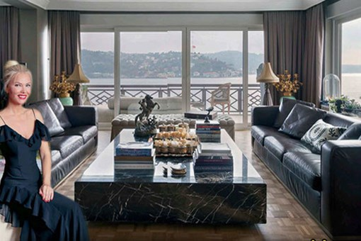 Ünlü modacı Siren Ertan'ın boğaz manzaralı muhteşem evi