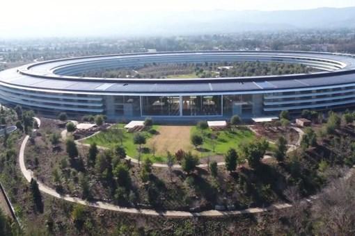 Apple'ın muhteşem binası görenleri hayran bırakıyor