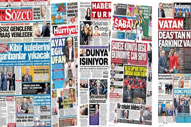 10 Mayıs 2018 Perşembe günün gazete manşetleri