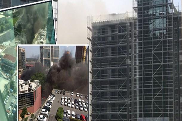 Ayazağa'daki lüks site inşaatında büyük yangın
