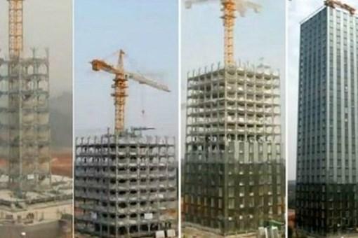 15 gün içinde 30 katlı bina yapımı