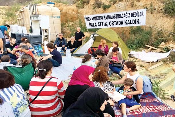 Pana Yapı mağdurları Fikirtepe'de çadır kurdu