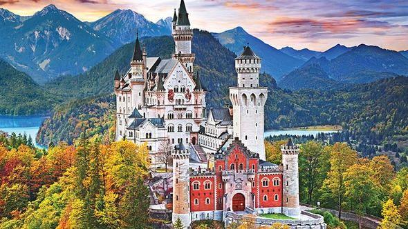 2.Neuschwanstein Kalesi<br /> <br /> <br /> Bulunduğu yer: Bavyera, Almanya