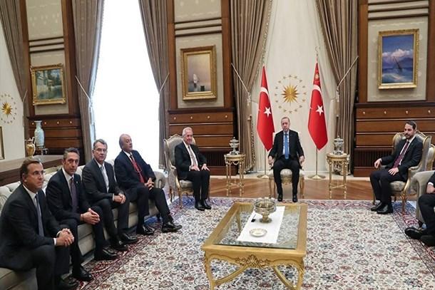Erdoğan, TÜSİAD heyetiyle görüştü